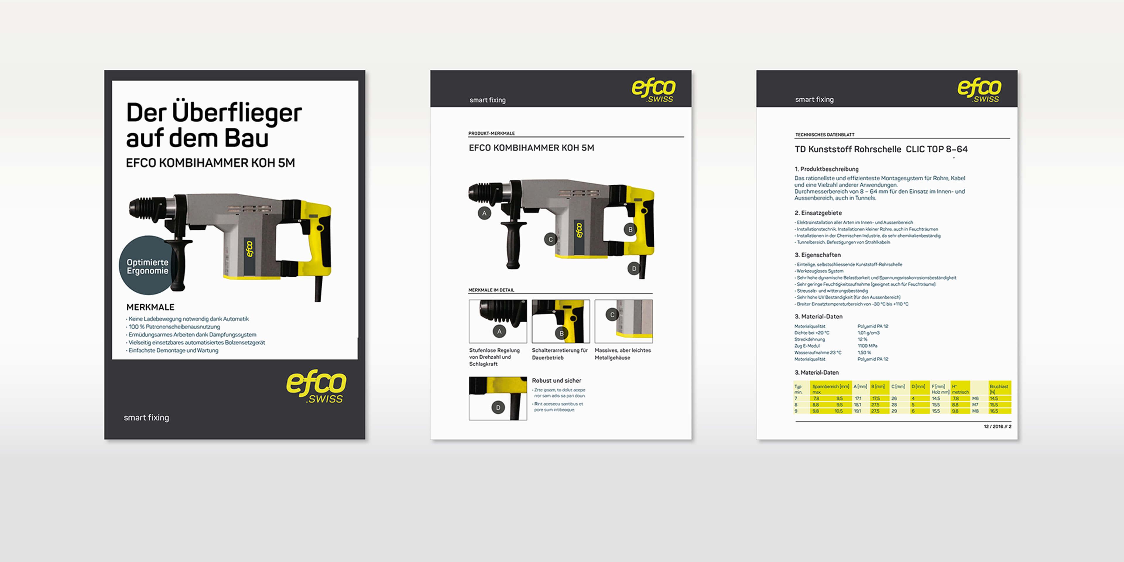 Produktkommunikation für EFCO