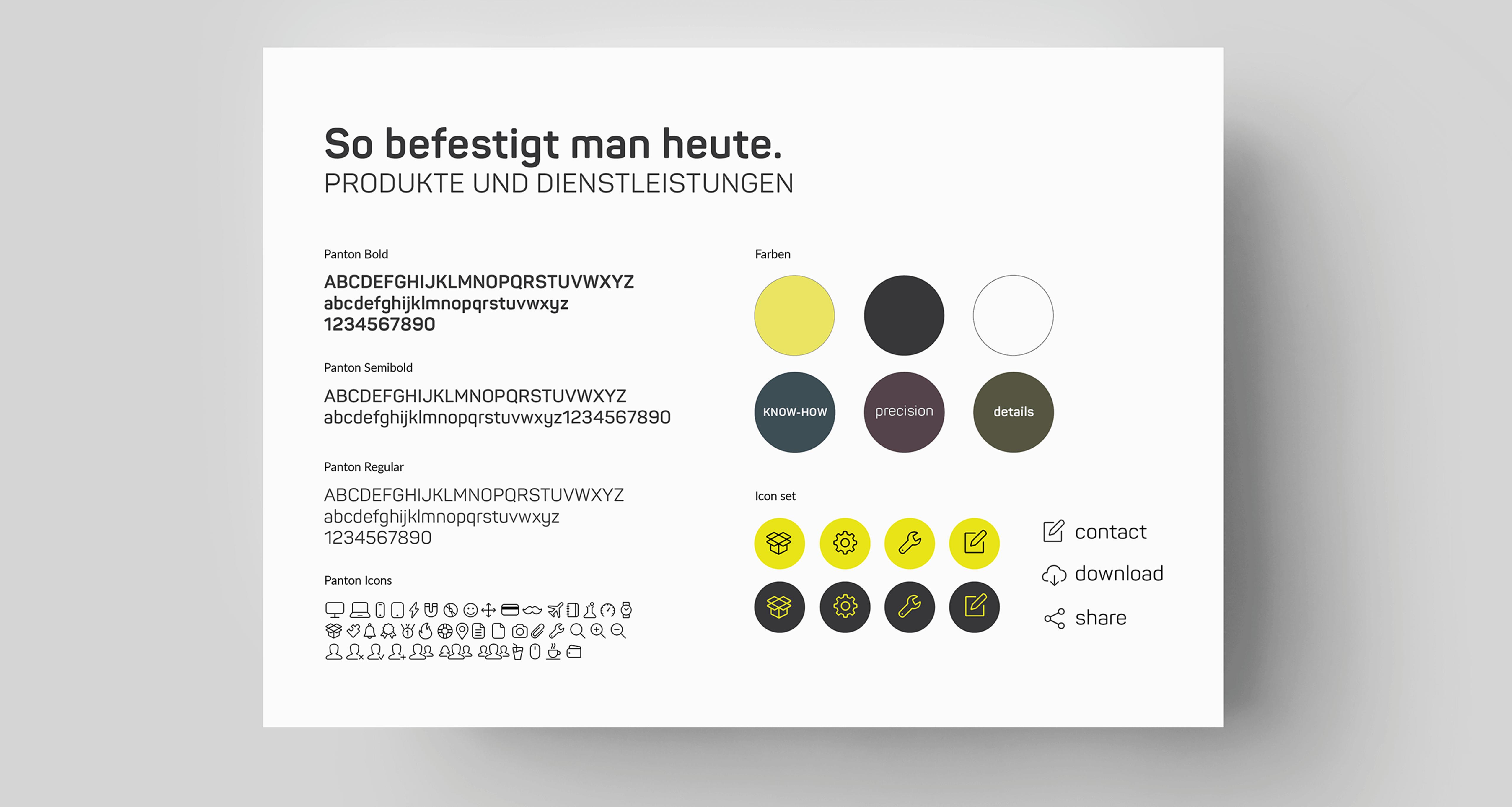 Grundelemente Brand Design EFCO