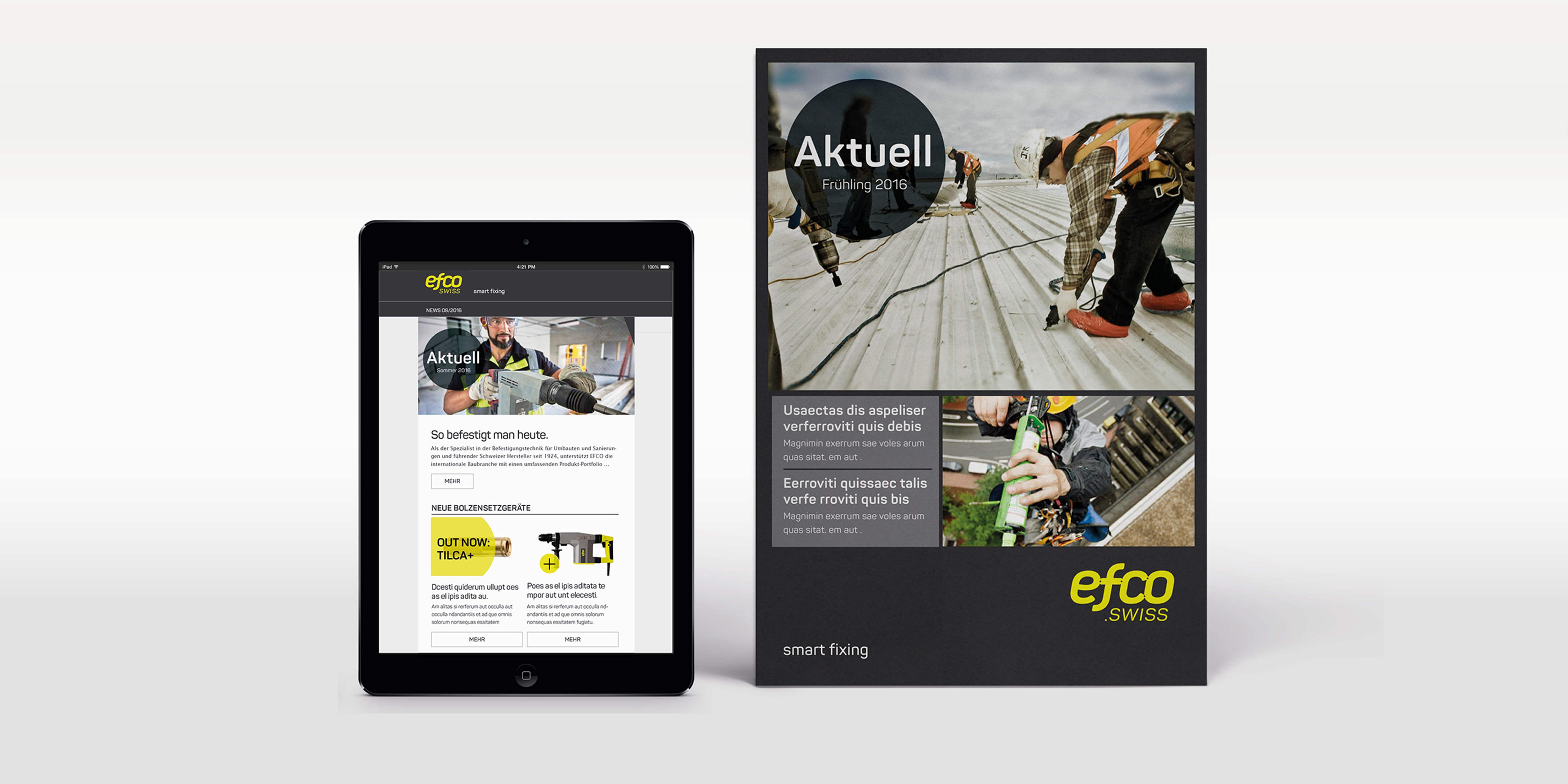 E-Mail und Print-Newsletter für EFCO