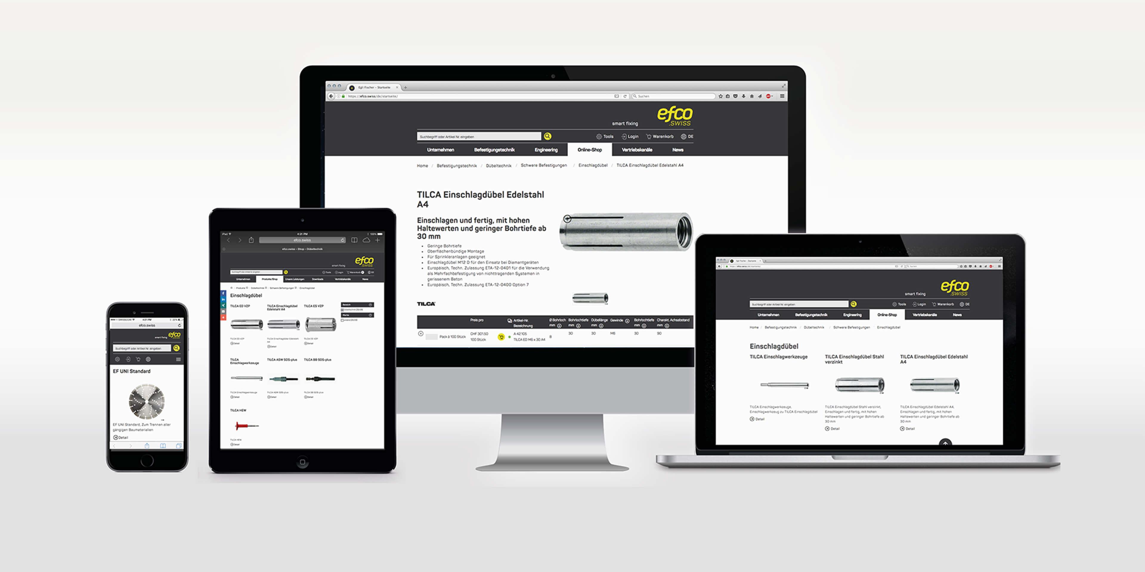 Website für EFCO