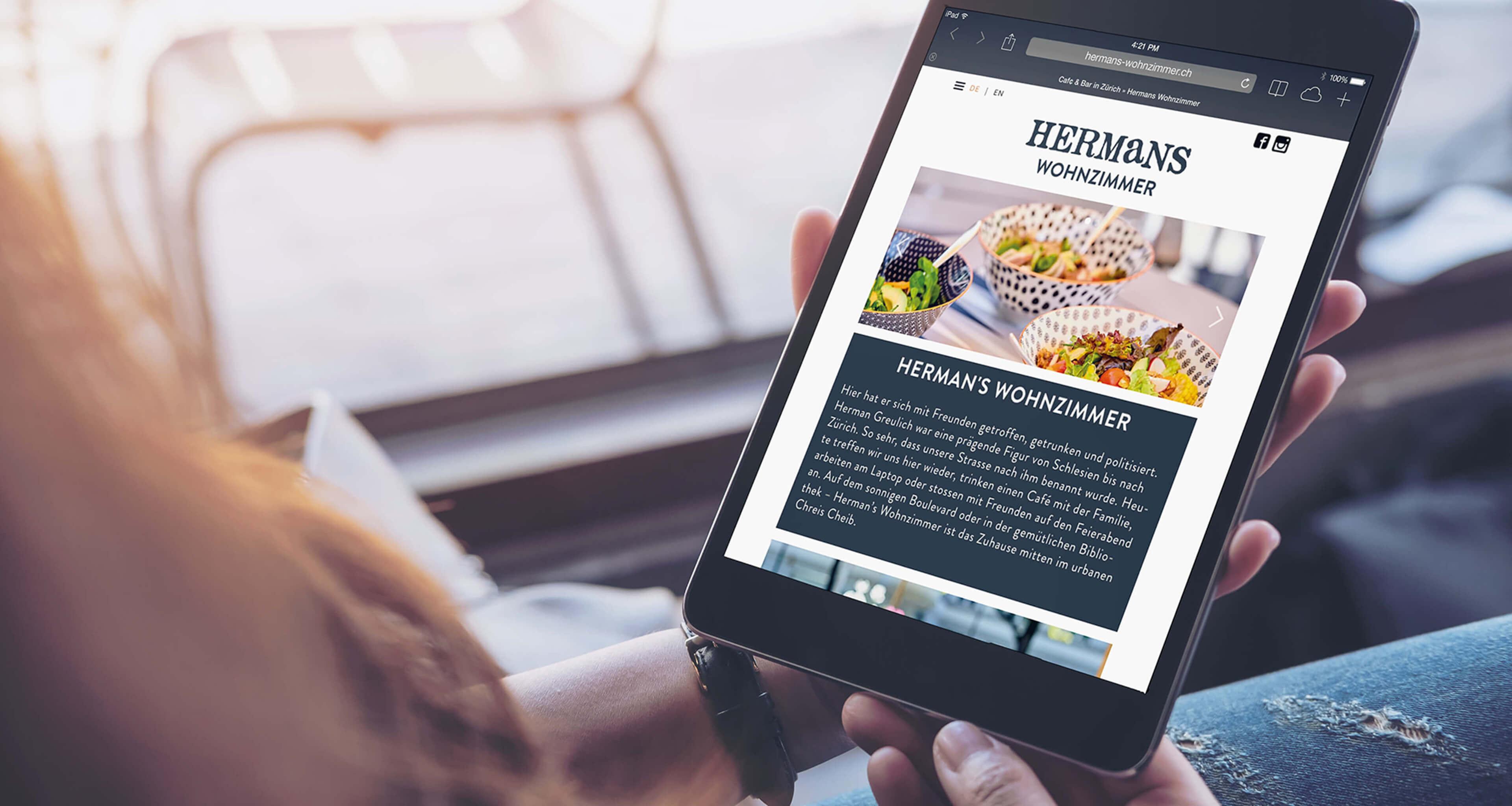 Branding Website Hermans Wohnzimmer