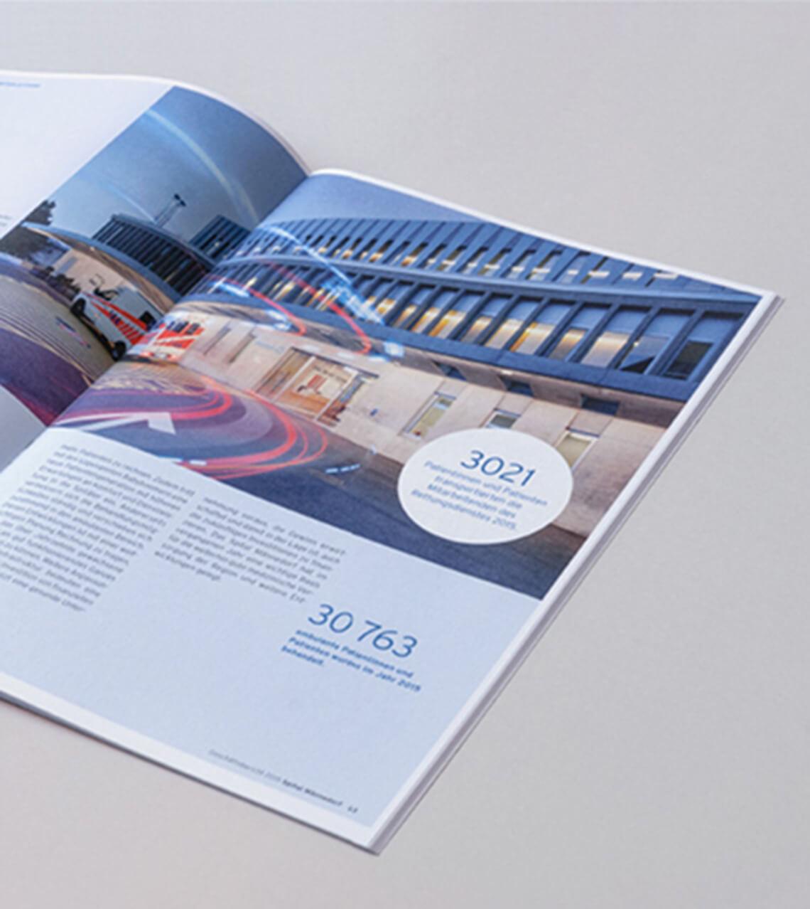 Spital Männedorf Geschäftsbericht 2014 Doppelseite