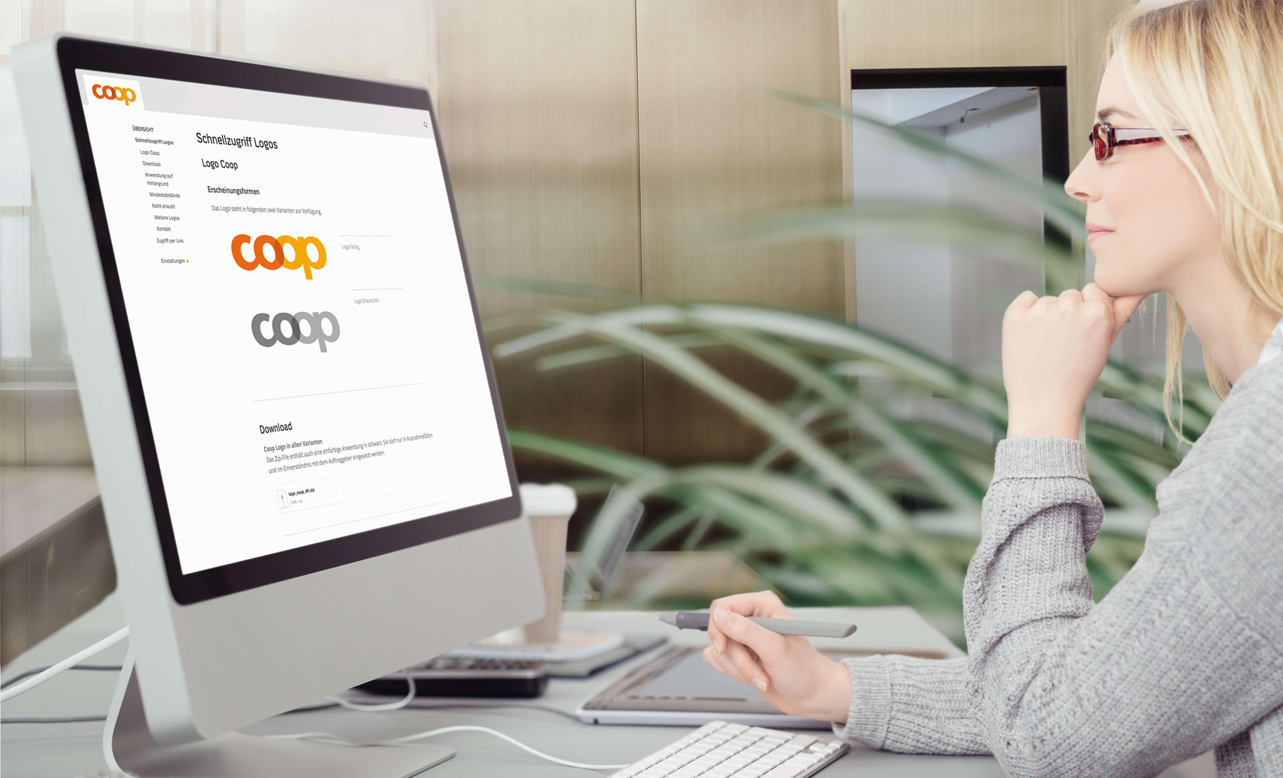 Schnellzugriff zum Download des Coop-Logos